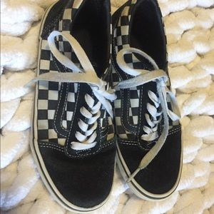 Vans kids checkerboard shoes size 2 GUC
